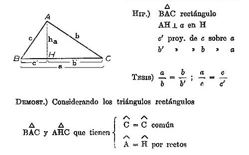 Geometría: Relaciones métricas entre los lados y ángulos del ...