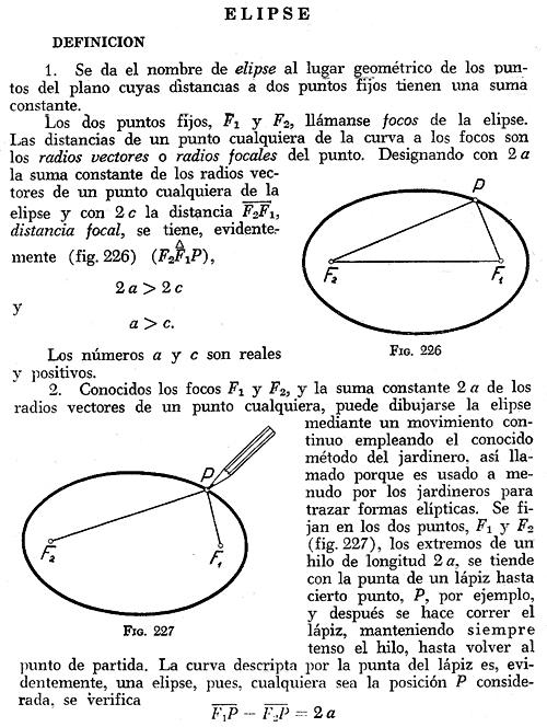 Elipse definici n ecuaciones for Jardinero definicion