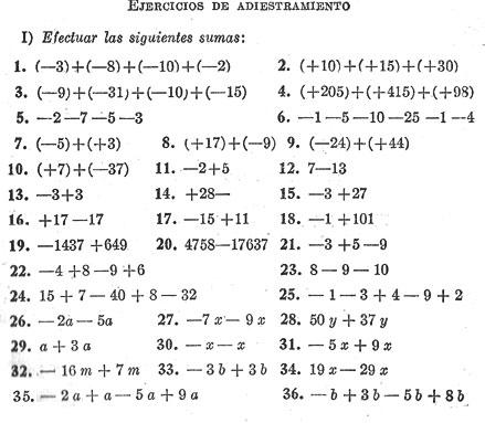 Matemáticas: Enteros positivos. Métodos de combinación de los enteros.