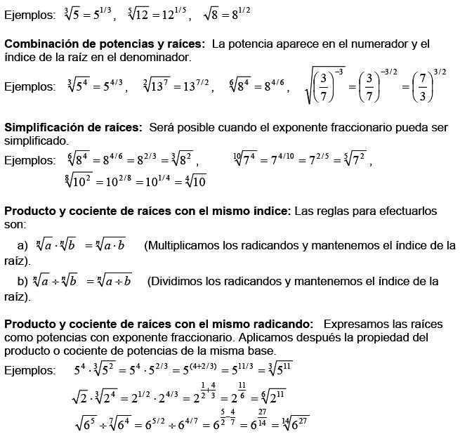 Matemáticas Potencias Y Raíces
