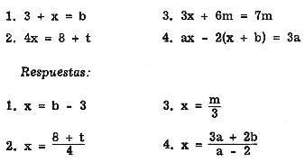 Matemáticas: Ecuaciones lineales con una variable.
