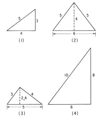 Matemáticas: Triángulos. Perímetro. Área. Ángulos.