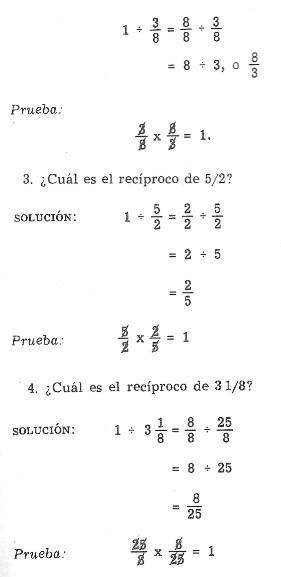 Matemáticas: Operaciones con fracciones. Multiplicación. División ...