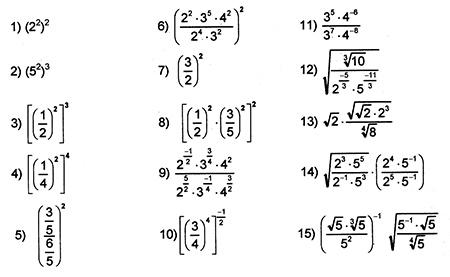 leyes de los exponentes fraccionarios: